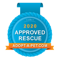 Adopt a Pet approved rescue badge 2020