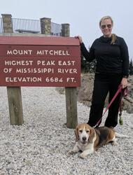 Alison Peak (with Mr. Speckles) Board Member