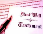Loast will and testament on a paper.