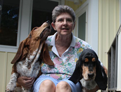 Melinda Brown (with Ginny and Trudy) Treasurer and Past President